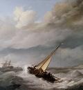 Koekkoek Johannes H Ships for the coast Sun