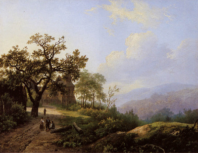 Koekkoek Marinus Summer landscape Sun