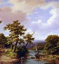 Koekkoek Marinus Adrianus Summer landscape Sun