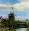 Koekkoek Willem Mill in summer polderlandscape Sun