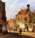 Koekkoek Willem Old Dutch street Sun