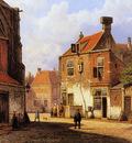 Koekkoek Willem Old Dutch street Sun