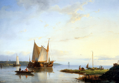 Koster Everhardus Boats on still water Sun