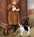 Krabbe Heinrich A saucer milk for the cat Sun