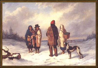 ds cornelius krieghoff 01l indian in a snowy landscape 1847