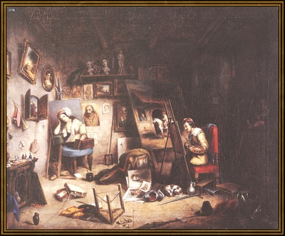 ds cornelius krieghoff 05 l the studio