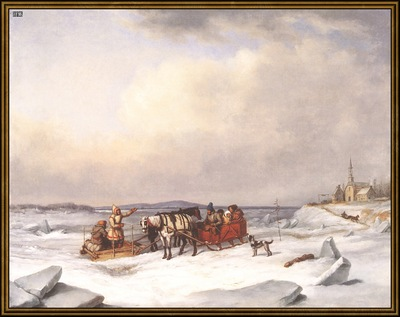 ds cornelius krieghoff 11 l the ice bridge 1847