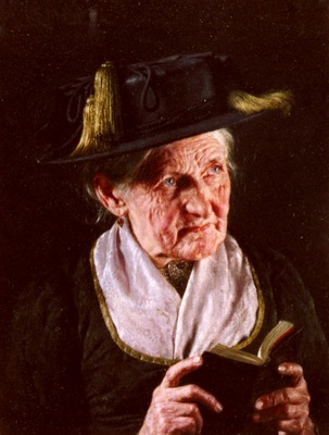 Kronberger Carl A Portrait Of A Woman With A Book Of Prayer