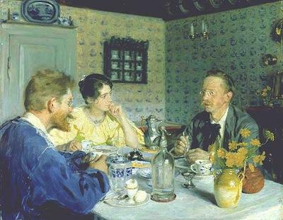 Kroyer Peder Severin Almuerzo con Otto Benzon