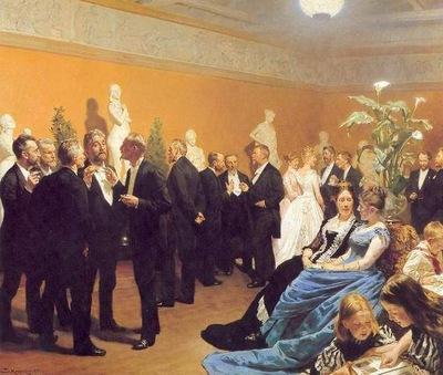 kroyer peder severin encuentro en el museo
