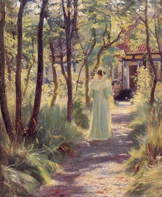 kroyer peder severin marie en el jardin
