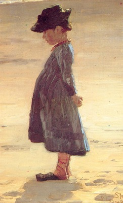 kroyer peder severin nina en la playa