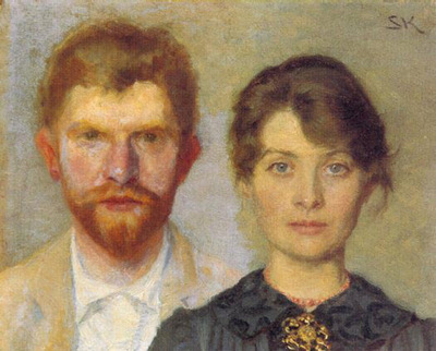 kroyer peder severin retrato del matrimonio