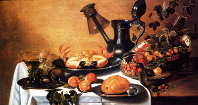 Kruys Cornelius Still Life Of Fruit With Crab