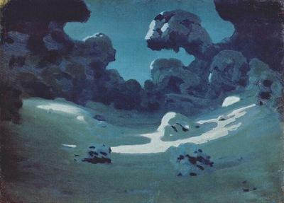 kuindzhi moonlight in winter forest 1898