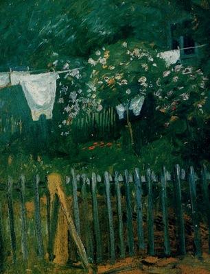 August Macke La Lessive dans le jardin, De