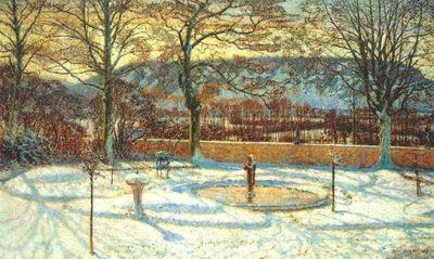 macmonnies un coin de parc par temps de neige pre