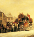 Maggs John Charles A Coach Outside An Inn In Winter