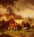 Mahlknecht Edmund Farmyard Scene