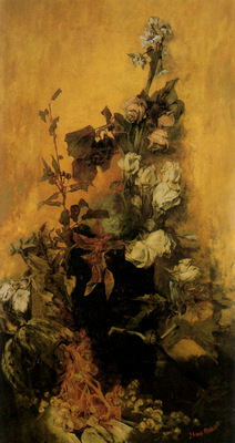 makart hans stilleben mit rosen