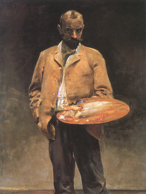 selfportrait with palette
