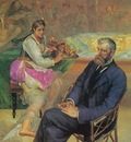 Portrait of Adam Asnyk with the Muse