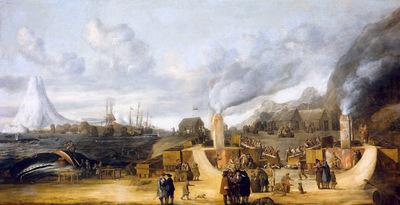 Man de Cornelis Whaling factory Sun