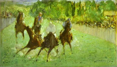 Edouard Manet At the Races