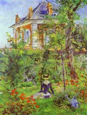 Edouard Manet Girl in the Garden at Bellevue