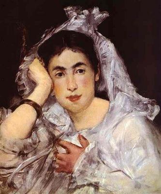 Edouard Manet Marguerite de Conflans Wearing a Hood
