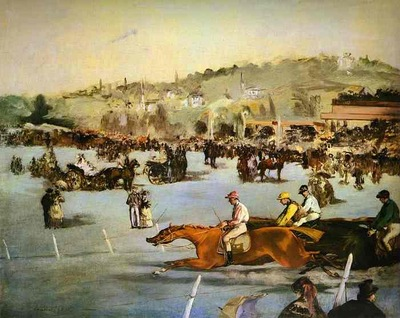 Edouard Manet Racecourse in the Bois de Boulogne