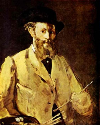 Edouard Manet Self Portrait with a Palette