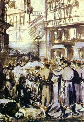 Edouard Manet The Barricade Civil War