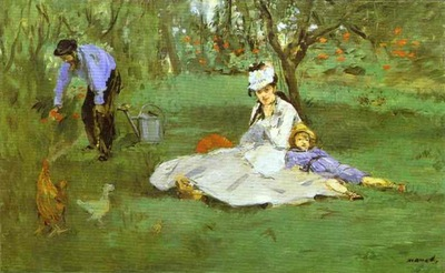 Edouard Manet The Monet Family in the Garden