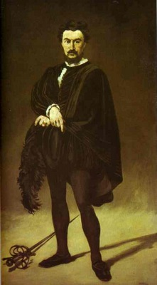 Edouard Manet The Tragic Actor Rouviere as Hamlet
