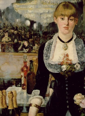 Manet A bar at Folies Bergeres, 1881 82, Detalj 1 96x130 c
