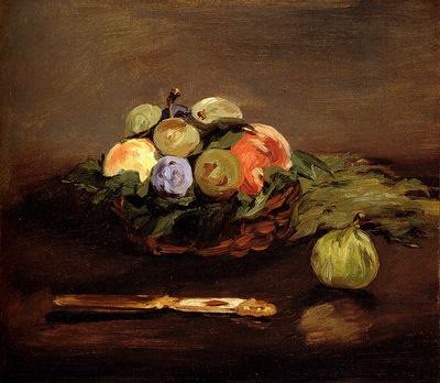 Manet Edouard Basket Of Fruit