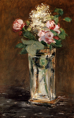 Manet Edouard Flowers In A Crystal Vase