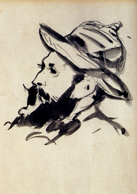 Manet Edouard Head Of A Man Claude Monet