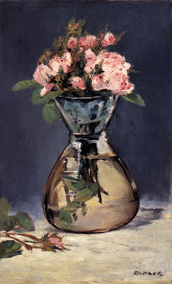 Manet Edouard Moss Roses In A Vase