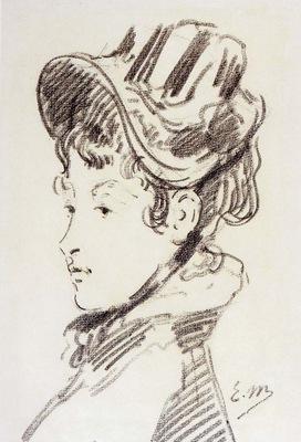 Manet Edouard Portrait Of Mme Jules Guillemet