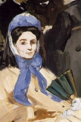Manet Music in the Tuileries, 1862, 76x118 cm, Detalj Nati