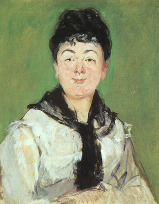 Manet Portrait of a Lady with a Black Fichu, 1878, oil on ca