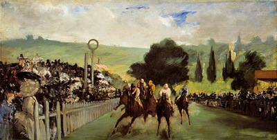 Manet Races at Longchamp, ca 1867, 43 9x84 5 cm, The Art Ins
