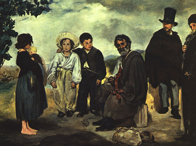 Manet The Old Musician, 1862, canvas, National Gallery of Ar