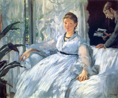 Reading Mme Manet and Leon