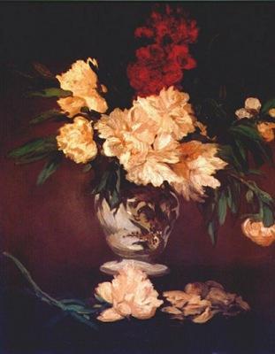 manet peonies 1864