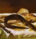 Edouard Manet Still Life with Eel and Red Muller