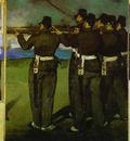 Edouard Manet The Execution of Emperor Maximilian four fragments