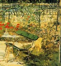 Edouard Manet The Garden at Versailles detail , De